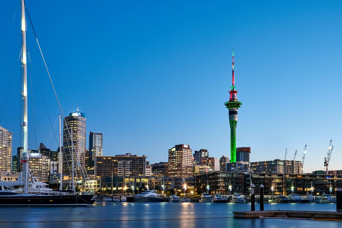 Auckland city in nz.
